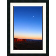 Moon Over Canyonlands Framed Print by Andy Magee