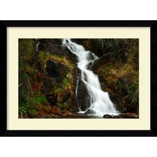 Mountain Waterfall Framed Print by Andy Magee