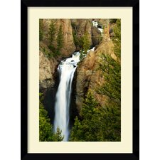 Tower Falls Framed Print by Andy Magee