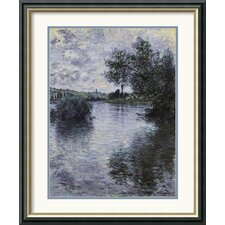'La Seine a Vetheuil 1879 (The Seine at Vetheuil)' by Claude Monet Framed Graphic Art