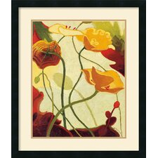 'Tres Vignes III' by Shirley Novak Framed Painting Print