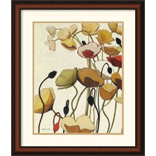 Pavots Ondule I Framed Print by Shirley Novak