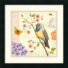 'Birds and Bees I' by Daphne Brissonnet Framed Graphic Art