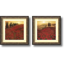 <strong>Amanti Art</strong> Poppies Framed Print by Steve Thoms (Set of 2)