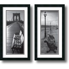 Benches Framed Print (Set of 2)