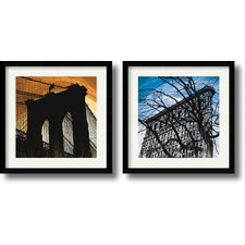 <strong>Amanti Art</strong> New York Glow Framed Print by Erin Clark (Set of 2)