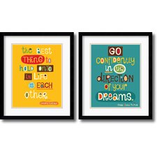 <strong>Amanti Art</strong> The Best Thing, Go Confidently Framed Print by Helen Dardik (Set of 2)