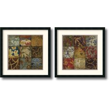 <strong>Amanti Art</strong> Floral Mosaic Framed Print by John Douglas (Set of 2)