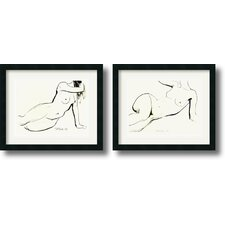 Nude Framed Print by Sergei Firer (Set of 2)