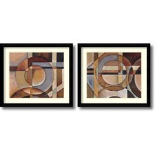 'Elements and Theories of Magic' by Marlene Healey 2 Piece Framed Painting Print Set