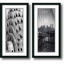 <strong>Amanti Art</strong> New York Panels Framed Print by Torsten Andreas Hoffman (Set of 2)
