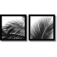 <strong>Amanti Art</strong> Palm Details Framed Print by Jamie Kingham (Set of 2)