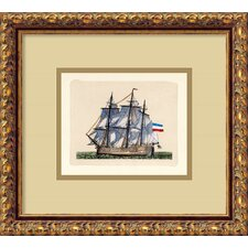 <strong>Amanti Art</strong> Full Sail (Netherlands) Italian Engraving Framed Print