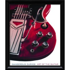 <strong>Amanti Art</strong> Dangerous Curves: Art of the Guitar Framed Print Wall Art