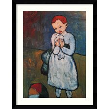 'Child Holding a Dove, Paris, Summer 1901' by Pablo Picasso Framed Painting Prints