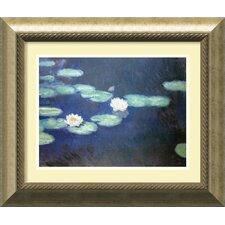 "<strong>Amanti Art</strong> Nympheas, 1897 by Claude Monet, Framed Print Art - 20.99"" x 24.99"""