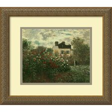 "<strong>Amanti Art</strong> The Artist's Garden at Argenteuil by Claude Monet, Framed Print Art - 13.74"" x 15.74"""