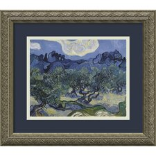 "<strong>Amanti Art</strong> The Olive Trees 1889 by Vincent Van Gogh, Framed Print Art - 14.06"" x 16.12"""