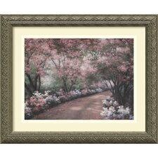 'Azalea Walk' by Diane Romanello Framed Painting Print