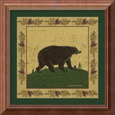 'Folk Bear' by Warren Kimble Framed Painting Prints