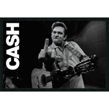 'Finger' by Johnny Cash Framed Photographic Print