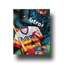 MLB Vintage Jersey Collage Photographic Print on Canvas