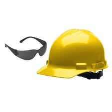 Hard Hat with Free Safety Glasses