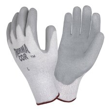 Thermal-Cor Gray Crinkle Latex Glove in Gray - Large