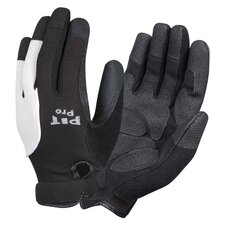 Pit Pro Mechanics Style Black Synthetic Leather Gloves - Large