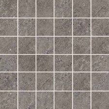 "Allora 3"" x 3"" Unpolished Porcelain Mosaic Tile in Argento"