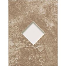 "Ash Creek 12"" x 9"" Glazed Wall Tile Accent with Diamond Cutout in Walnut"