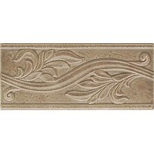 "Ash Creek 9"" x 4"" Glazed Ceramic Flora Accent Tile in Walnut"