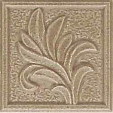 "Ash Creek 3"" x 3"" Glazed Ceramic Flora Insert Tile in Walnut"