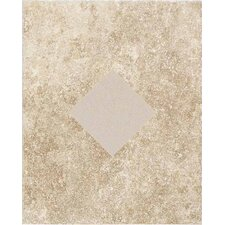 "Carriage House 10"" x 8"" Glazed Wall Tile Accent with Diamond Cutout in Straw"