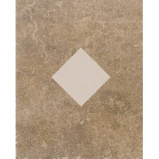 "Carriage House 10"" x 8"" Glazed Wall Tile Accent with Diamond Cutout in Buckskin"
