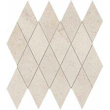 Costa Rei Harlequin Tile in Pietra Bianco