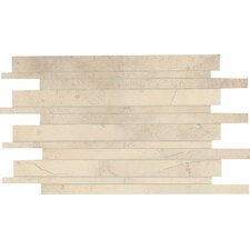 "Costa Rei 12"" x 20"" Glazed Interlocking Decorative Accent Tile in Sabbia Dorato"