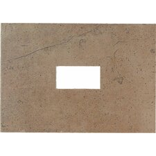 "Costa Rei 14"" x 10"" Glazed Decorative Wall Tile with Cutout in Terra Marrone"