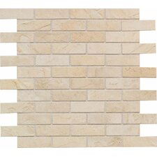 "Highland Ridge 3"" x 1"" Brick Pattern Mosaic Tile in Desert"