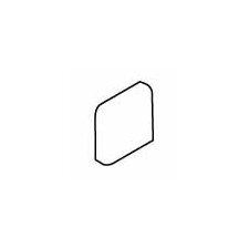 """Pozzalo 2"""" x 2"""" Radius Bullnose Corner Tile Trim in Sail White"""