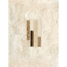 "Torre Venato 12"" x 9"" Glazed Porcelain Decorative Wall Tile in Crema"