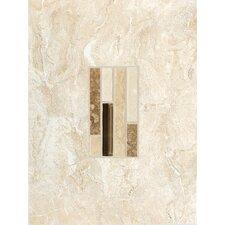 "Torre Venato 12"" x 9"" Glazed Porcelain Decorative Wall Tile in Crema"