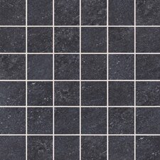 "Allora 3"" x 3"" Unpolished Porcelain Mosaic Tile in Carbone"