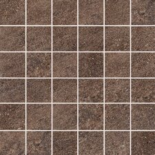 "Allora 3"" x 3"" Unpolished Porcelain Mosaic Tile in Marrone"
