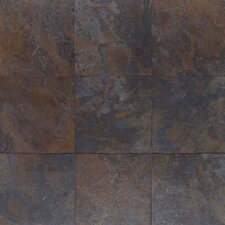 "Amber Valley 20"" x 20"" Glazed Porcelain Floor Tile in River Moss"
