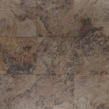"Amber Valley 20"" x 20"" Glazed Porcelain Floor Tile in Derby Brown"