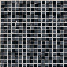 "Legacy Glass 12"" x 12"" Glazed Glass and Stone Mosaic in Mountain Blend"