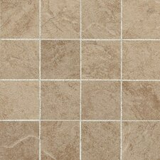 "Shadow Bay 3"" x 3"" Colorbody Porcelain Mosaic in Beach Sand"