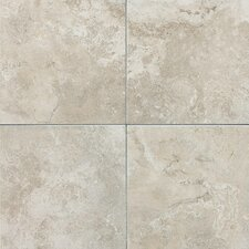 "Pozzalo 18"" x 18"" Glazed Field Tile in Sail White"