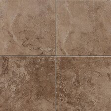 "Pozzalo 12"" x 12"" Glazed Field Tile in Weathered Noce"